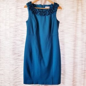 Charter Club Knit Shift Dress Teal 8P